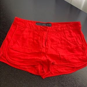 Zara Red shorts- XS